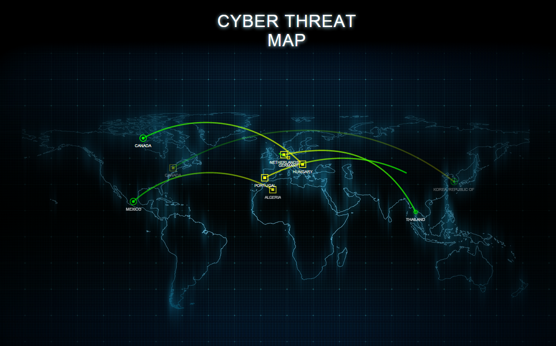 Cyber threat map