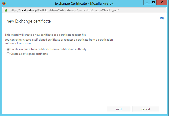 How to generate a CSR code on Exchange 2013 – HelpDesk | SSLs com