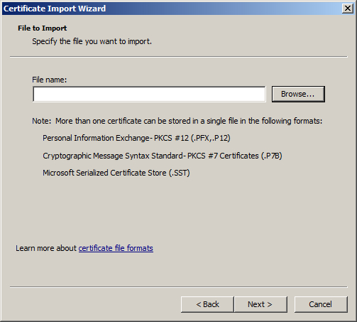 How to export SSL certificate from one IIS 7 server to another
