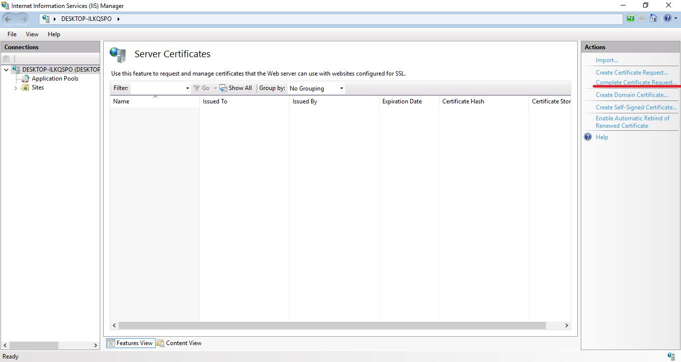How to install an SSL certificate on IIS8 – HelpDesk | SSLs com
