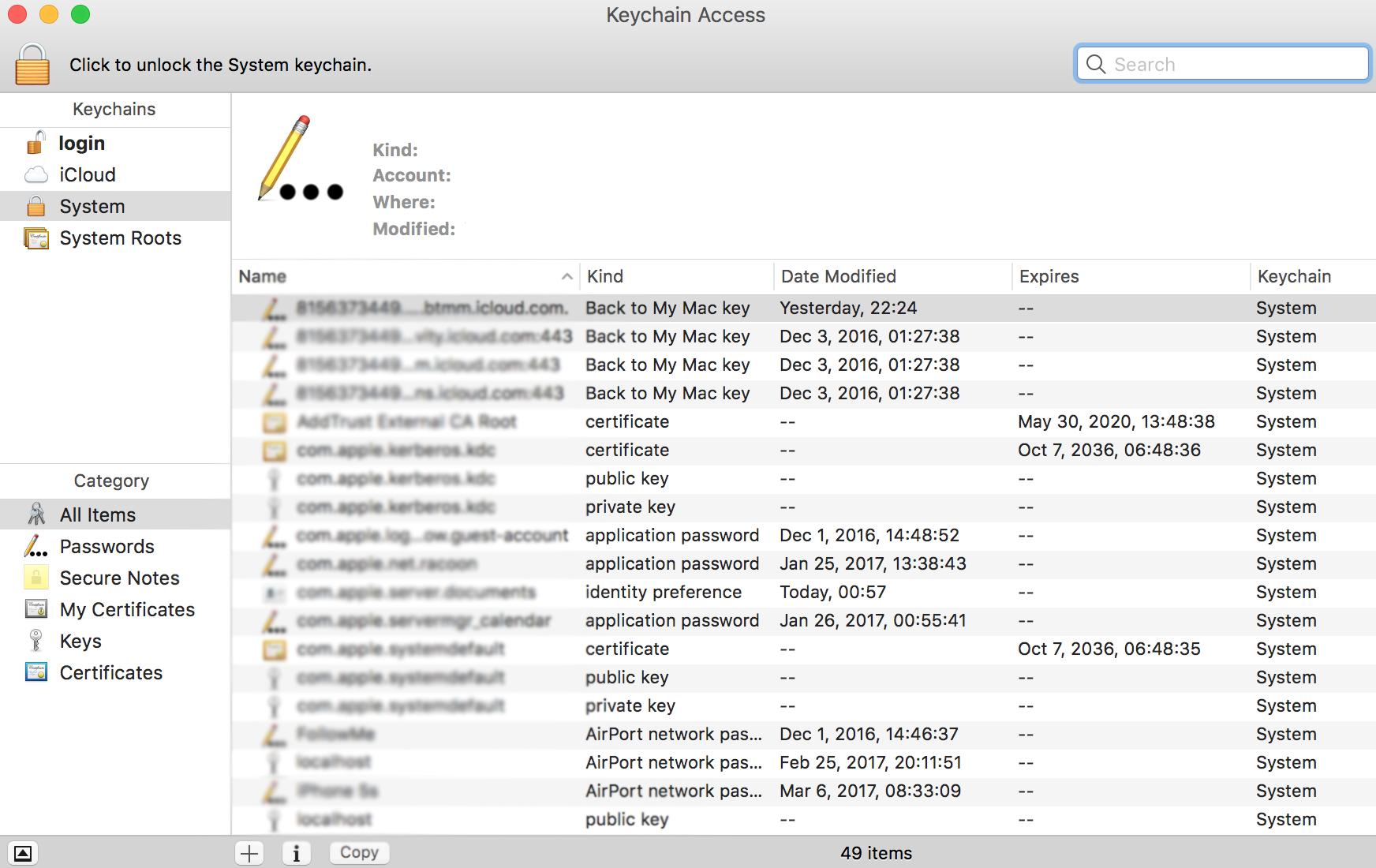 os mac servers certificate install ssls certificates comodo intermediate enter check added were into