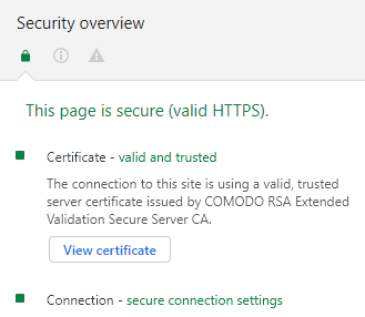 SSL Notifications in Chrome – HelpDesk | SSLs com